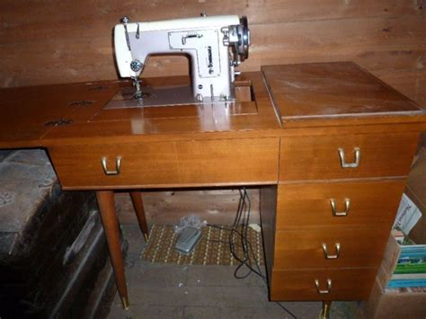 vintage kenmore model 158 512 sewing machine in cabinet