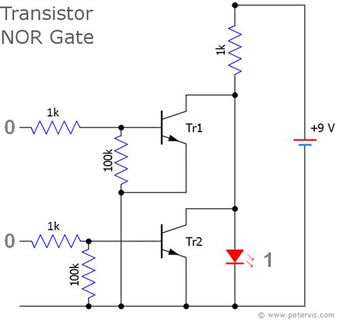 nor gate transistor logic