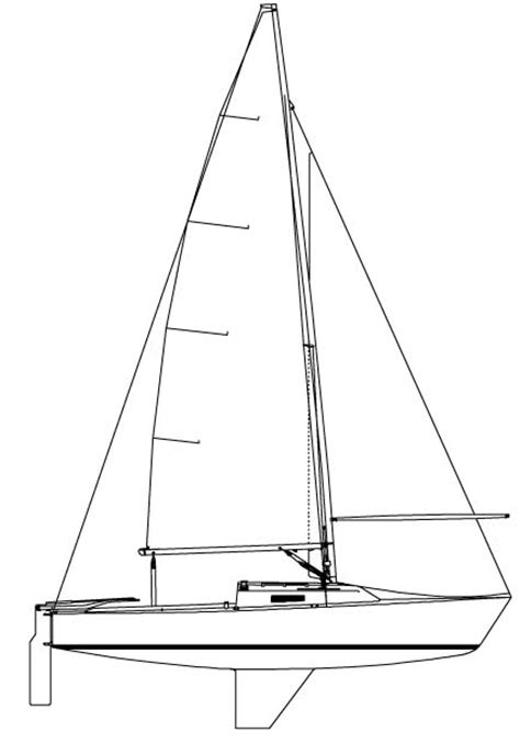 Sailboat Outline by Image Gallery Sail Outline