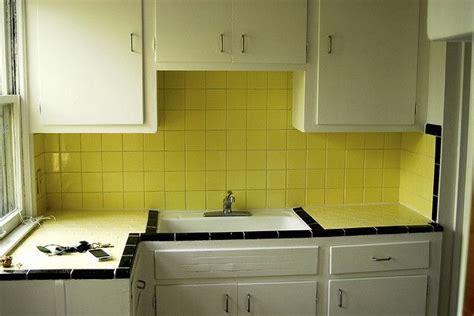 yellow tile kitchen retro kitchen 1 - Yellow Tiles Kitchen