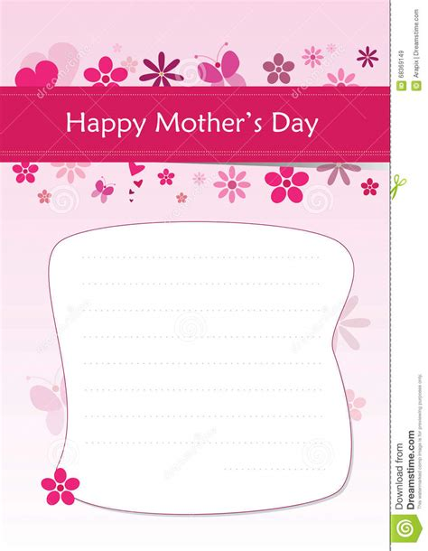 Letter For S Day Happy S Day A4 Greeting Letter Stock Vector