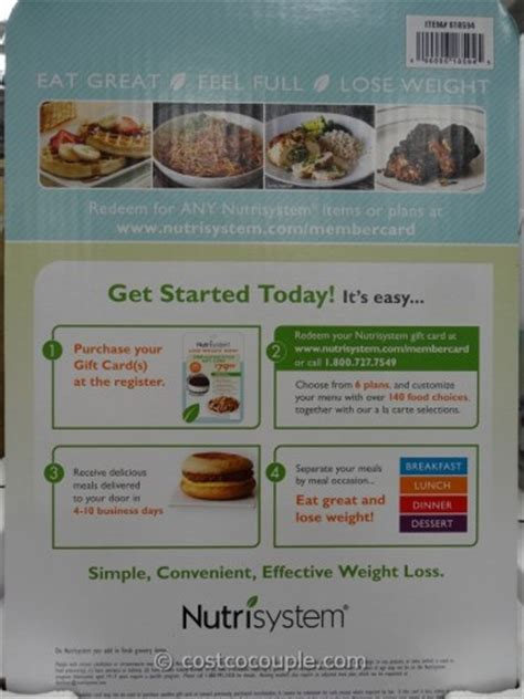 Nutrisystem Gift Cards - nutrisystem discount gift card