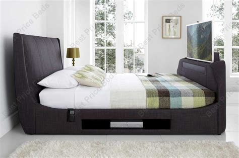 bed frames with tv lifts kaydian sommer tv bed frame soundbar at bestpricebeds co uk