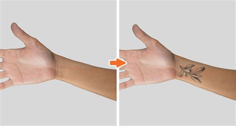 wrist tattoo template mockup photoshop templates pack by go media