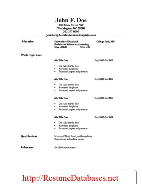 Resume Template Guide by Resume Sles And Guides Resume Templates