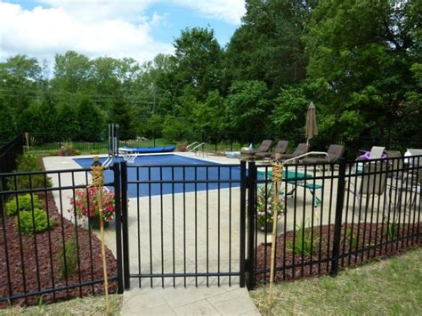 backyard pool fence ideas interior give your black fence paint a new facelift