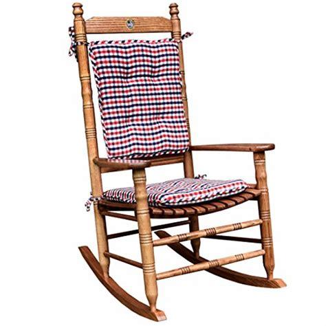Cracker Barrel Rocking Chair Cushions - white and blue gingham rocking chair cushion set