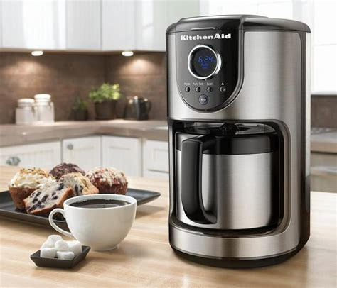 st maker kitchenaid 10 cup digital thermal st steel carafe coffee