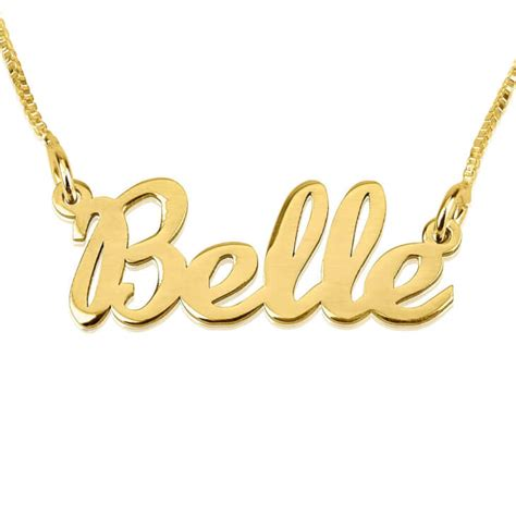 24k gold plated handwriting name necklace order now