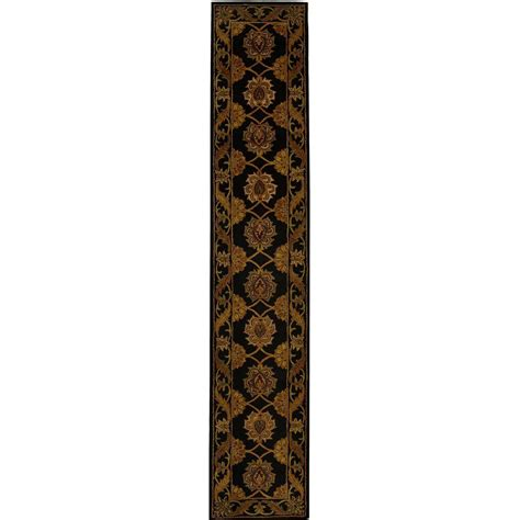 rug runners 2 x 14 safavieh heritage black 2 ft 3 in x 14 ft rug runner hg314a 214 the home depot