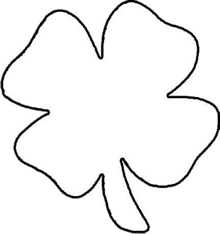 four leaf clover template s day crafts coloring clovers and st