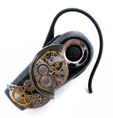 Alfa Link Bluetooth Headset Bth 233 steunk bluetooth headset 2 by create a pendant on deviantart