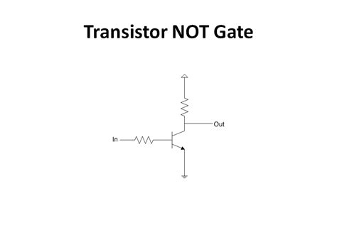 transistor not gate inverter transistor not gate 28 images transistor as a logic switch not gate transistor lab 2