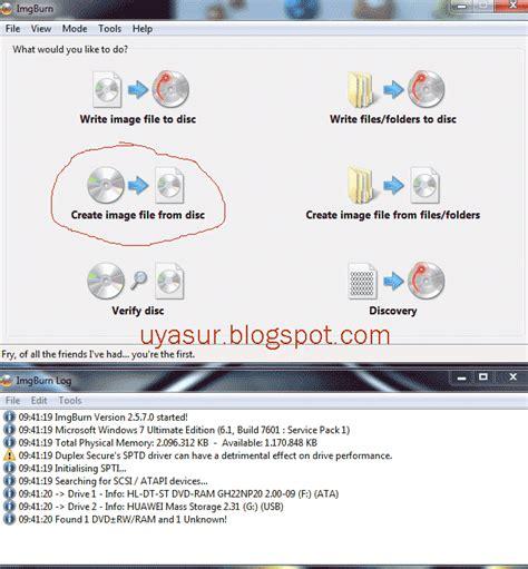 membuat file iso dari harddisk membuat file iso dari cd dvd di komputer atau laptop