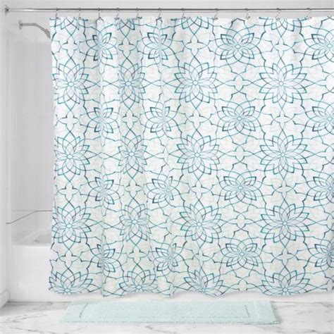 floral shower curtains fabric kenzie floral fabric shower curtain curtainshop com