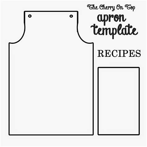 Apron Template For Card by The Cherry On Top Fabulous Free Paper Apron Project