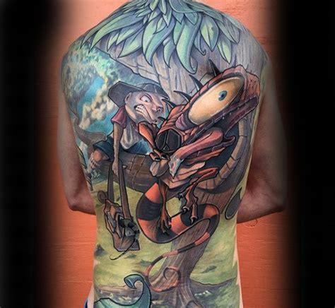 tattoo new school back 100 new school tattoos for men modern ink design ideas