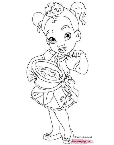 Little Princesses Printable Coloring Pages Disney Baby Disney Princess Characters Coloring Pages