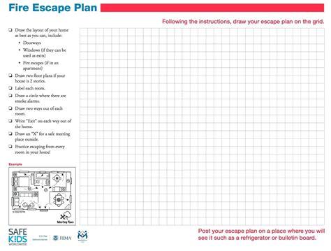 Printable Fire Escape Plan Template Printable Escape Plan Template