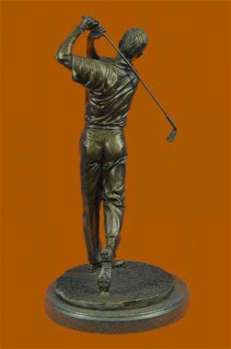 golf statues home decorating vintage bobby jones bronze marble base statue golf club