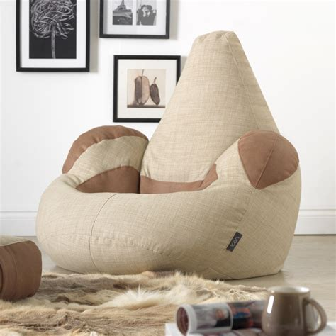 armchair bean bag buy icon shetland armchair bean bag in tan beanbagbazaar