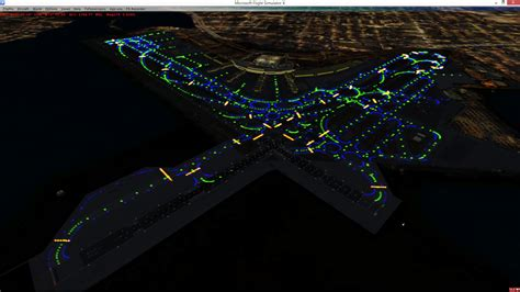 what color are taxiway lights airport lighting