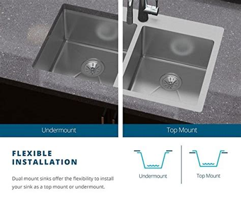 how to install a dual mount kitchen sink elkay crosstown ectsrs33229bg3 single bowl dual mount