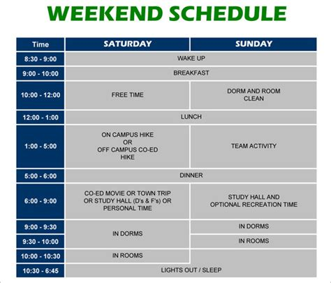 weekend only calendar template weekend schedule template calendar template 2016