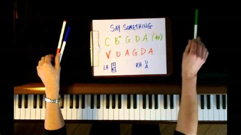 Say Something Keyboard Tutorial Easy | how to play say something by a great big world piano