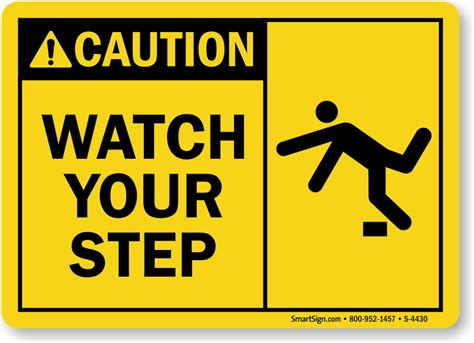 Warning Signs Your Dates Not Into You by Your Step Signs And Labels Best Prices From