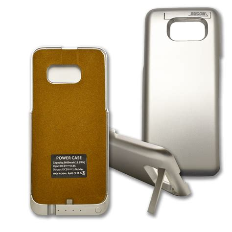Powerbank Samsung Galaxy S7 Edge f 252 r samsung galaxy s7 edge powercase powerbank ladeschale akku 3600mah silber ebay