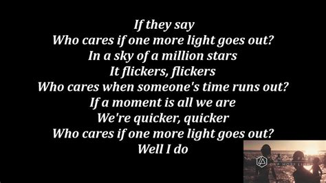 linkin park one more light lyrics youtube
