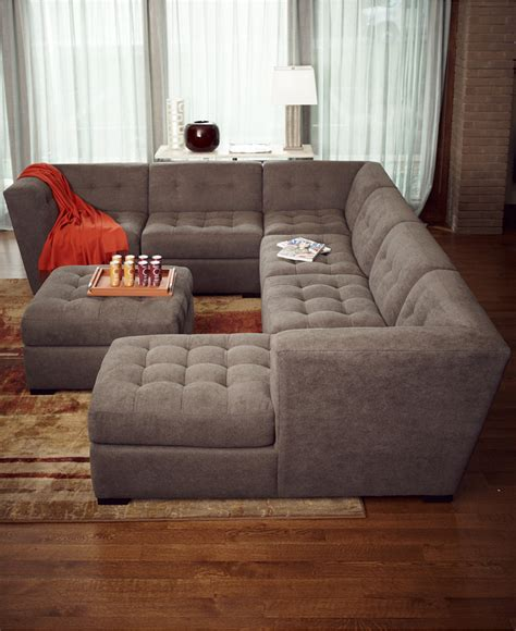 6 modular sectional sofa roxanne fabric 6 modular sectional sofa with ottoman