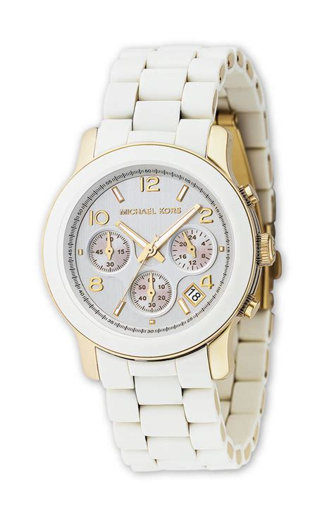 michael kors chagne white gold chronograph