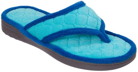 thong house slippers dearfoams womens quilted terry thong slippers ebay
