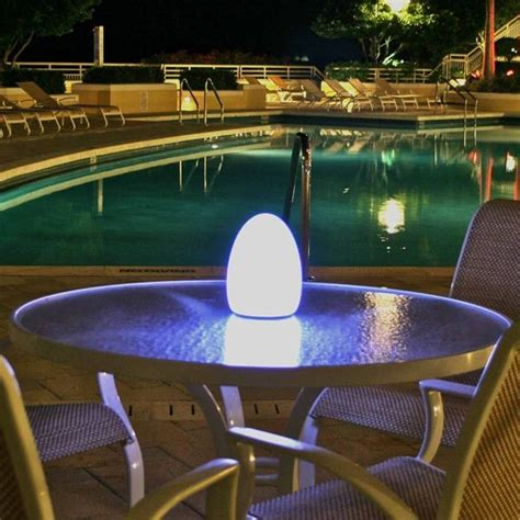 Patio Table Lights Egg Rechargeable Outdoor Light Outdoor Lighting Chicago By Home Infatuation