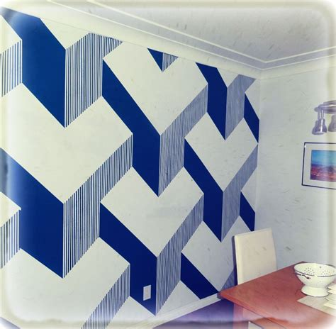 how to do wall painting designs yourself diy 3d cube painted wall a collection of things i love