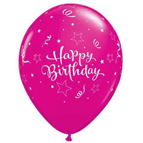 Balon Motif Happybirhtday ballon happy birthday 233 toile qualatex et fuschia