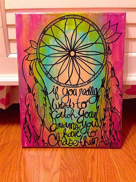 paint dream dream catcher canvas painting