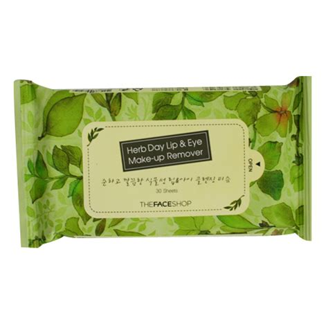 Thefaceshop Herb Day Cleansing Wipes the shop herb day lip eye make up remover tissue
