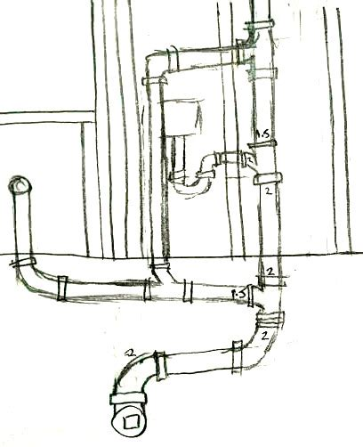 laundry sink plumbing diagram plumbing are the sink and washer vented correctly