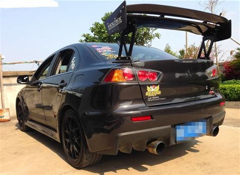 Carbon Fiber Voltex Type 5 Style Rear Gt Wing Spoiler For