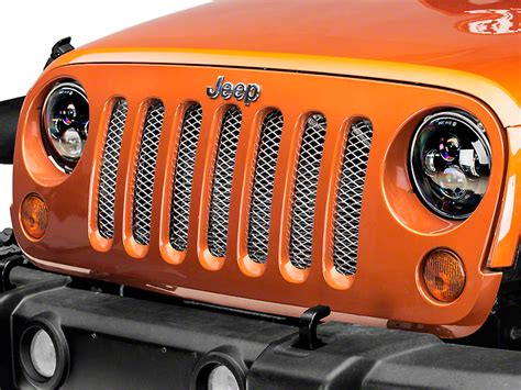 rugged ridge grille inserts jeep jk rugged ridge stainless steel wrangler grille insert 11401 21 07 17 wrangler jk free shipping