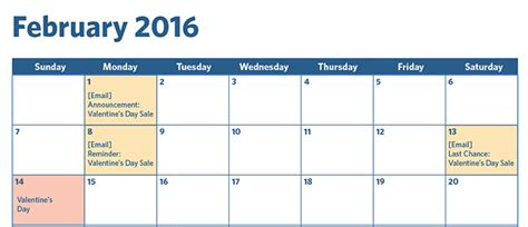 email marketing calendar template your 2016 email marketing planning calendar constant