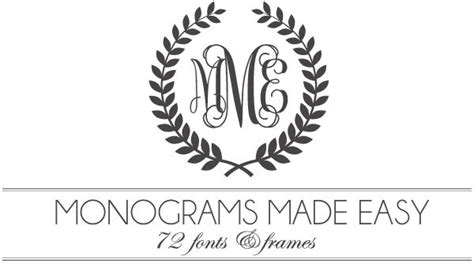 printable monogram numbers monograms made easy 72 fonts frames most of these are