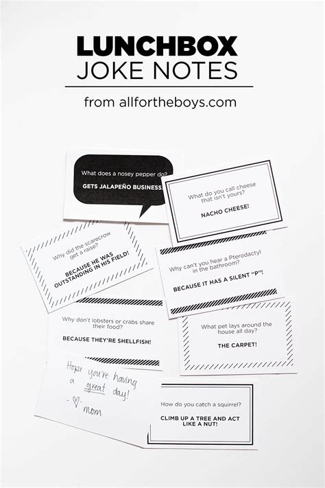 printable office jokes new lunchbox joke notes family faves all for the boys