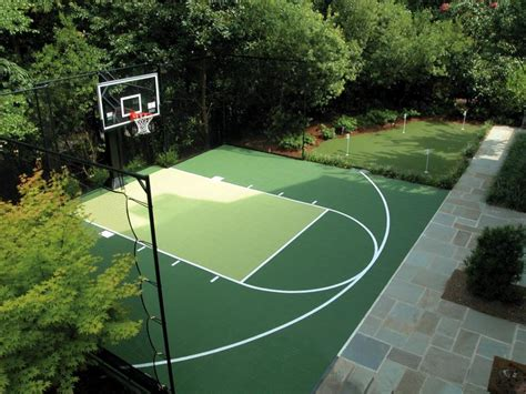 sports courts for backyards backyard courts home gyms sport court of st louis