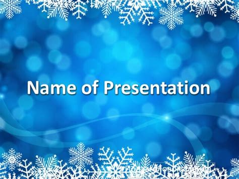 powerpoint templates free new year snow background template for presentation on new year