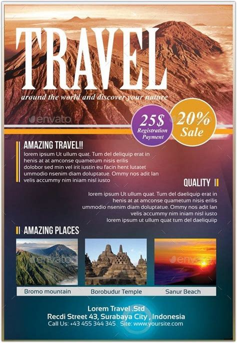 21 best travel tourism flyer templates web resources free