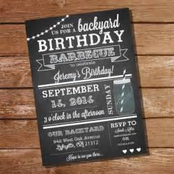 chalkboard bbq birthday invitation instantly downloadable